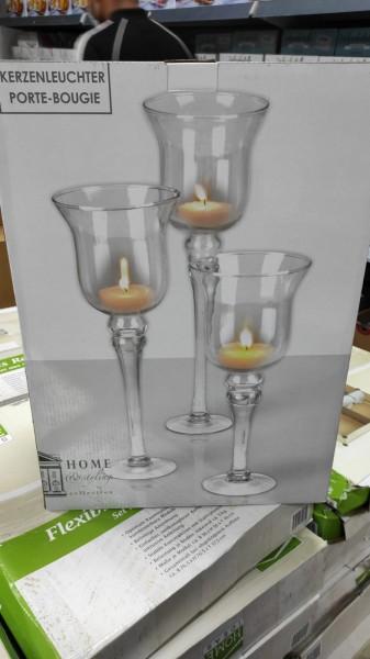 PORTE BOUGIE 3 er Set Kerzenleuchter